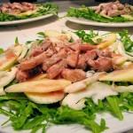 Insalata di Rucola con Pesce Spada, Mele e Finocchio