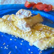 Borek Sigara Böreği Turchi con Formaggi di Capra e Cipolle Rosse