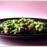 Spätzle (Gnocchetti Tirolesi) agli Spinaci con Gorgonzola e Speck