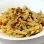 Caserecce ai Carciofi con Bottarga, Limone e Pinoli