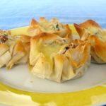 Fagottini di Pasta Fillo con Ricotta, Zucchine, Pomodori Secchi e Scamorza