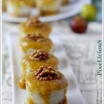 Mini Cheesecake Salate al Gorgonzola con Noci e Coulis di Fichi