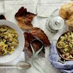 Tagliatelle all'Uovo con Carciofi e Pancetta