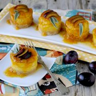 Mini Cheesecake Salati alla Zucca e Grana con Coulis di Susine Tardive alla Malvasia