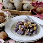 Gnocchi di Patate Viola con Gorgonzola e Noci