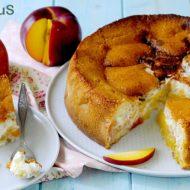 Peaches and Cream Pie: Torta con Pesche Noci e Formaggio Fresco
