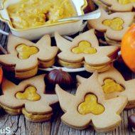 Biscotti di Farina di Castagne con Curd di Cachi